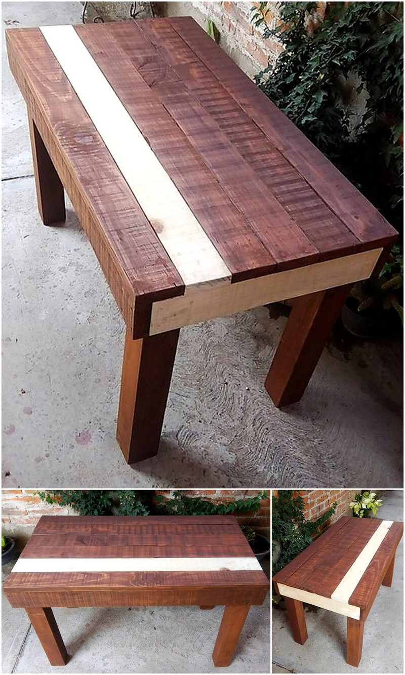 wooden pallet garden patio bench