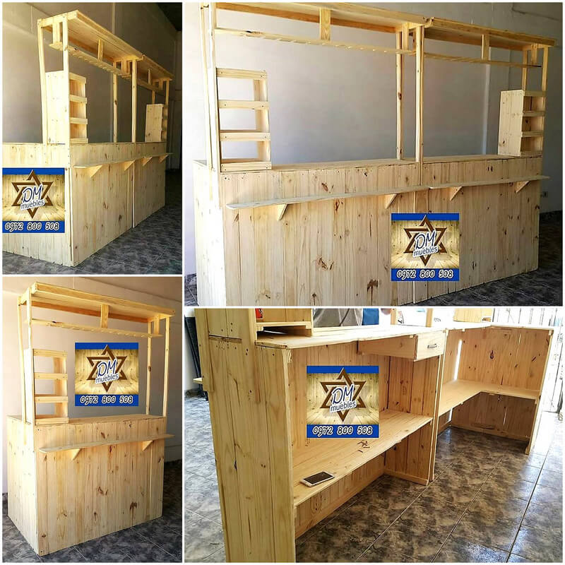 wooden pallets bar made plan