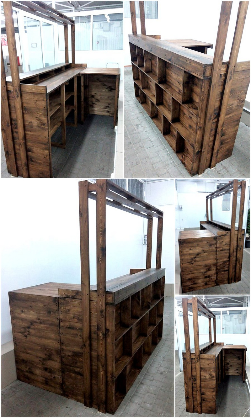 wooden pallets made bar