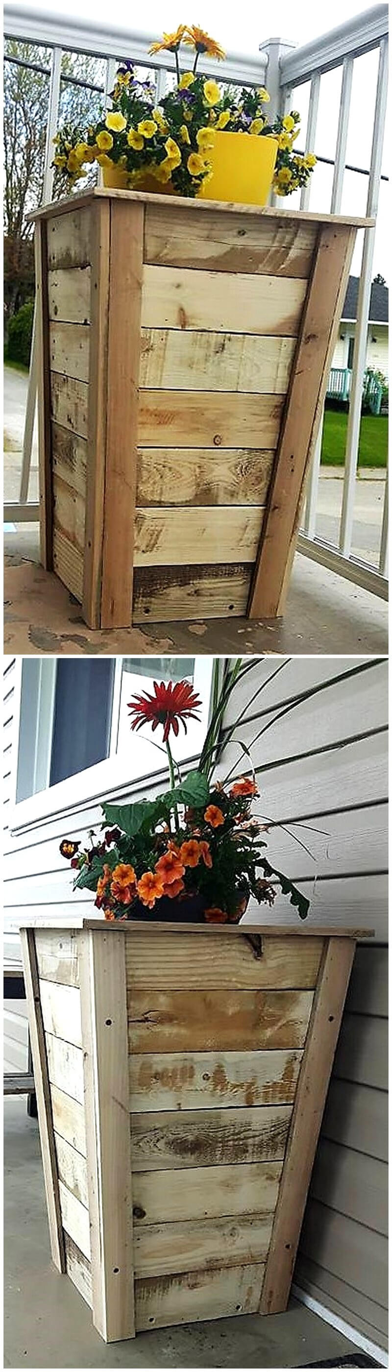 wooden pallets planters