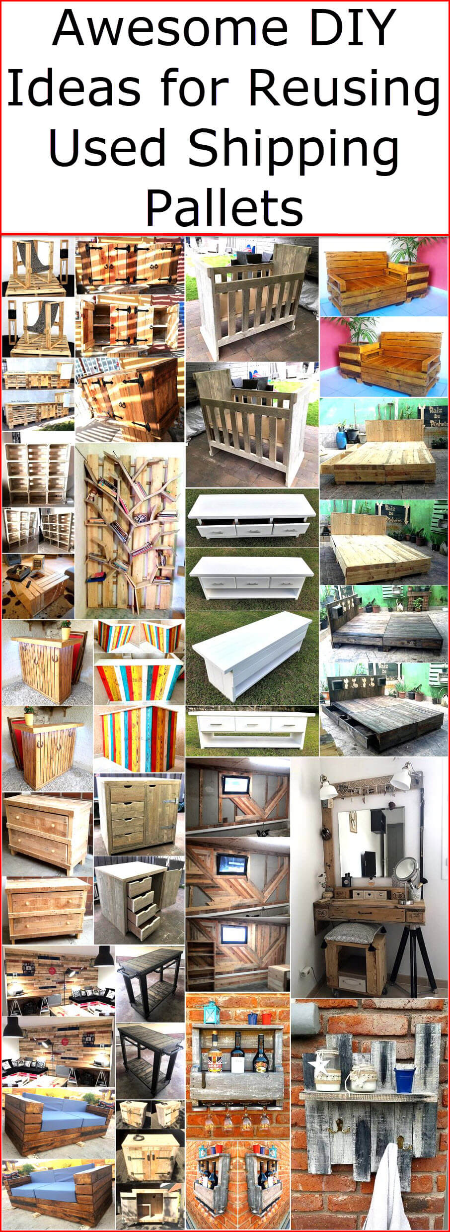 shipping pallet furniture ideas. Awesome DIY Ideas For Reusing Used Shipping Pallets | Wood Pallet Furniture R
