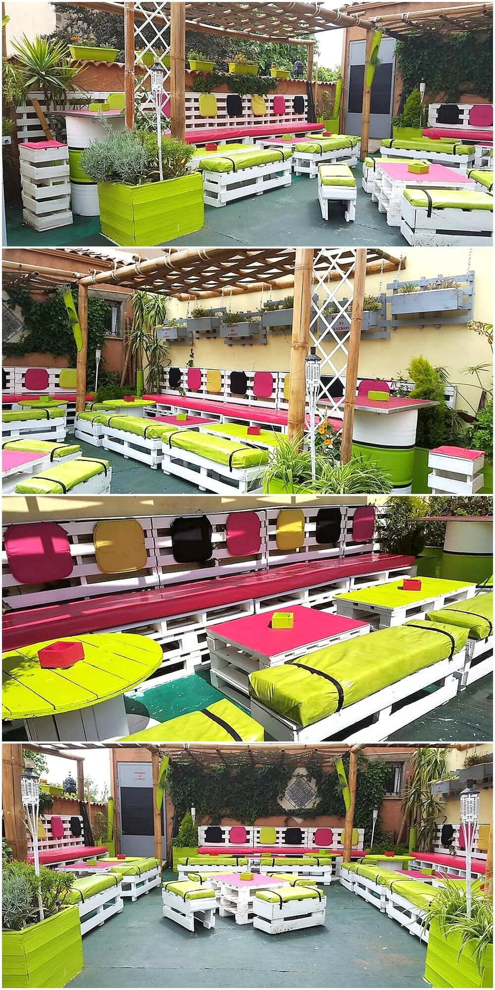 Awesome Pallet Patio Terrace Furniture Plans 1
