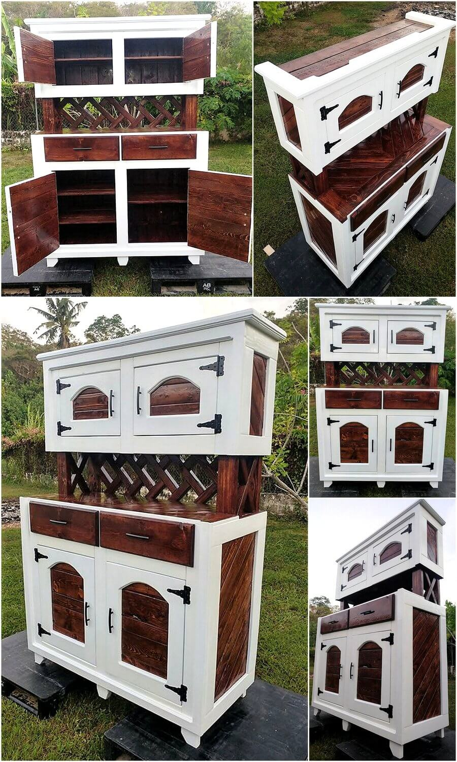 Creative Pallets Made Classic Style Hutch