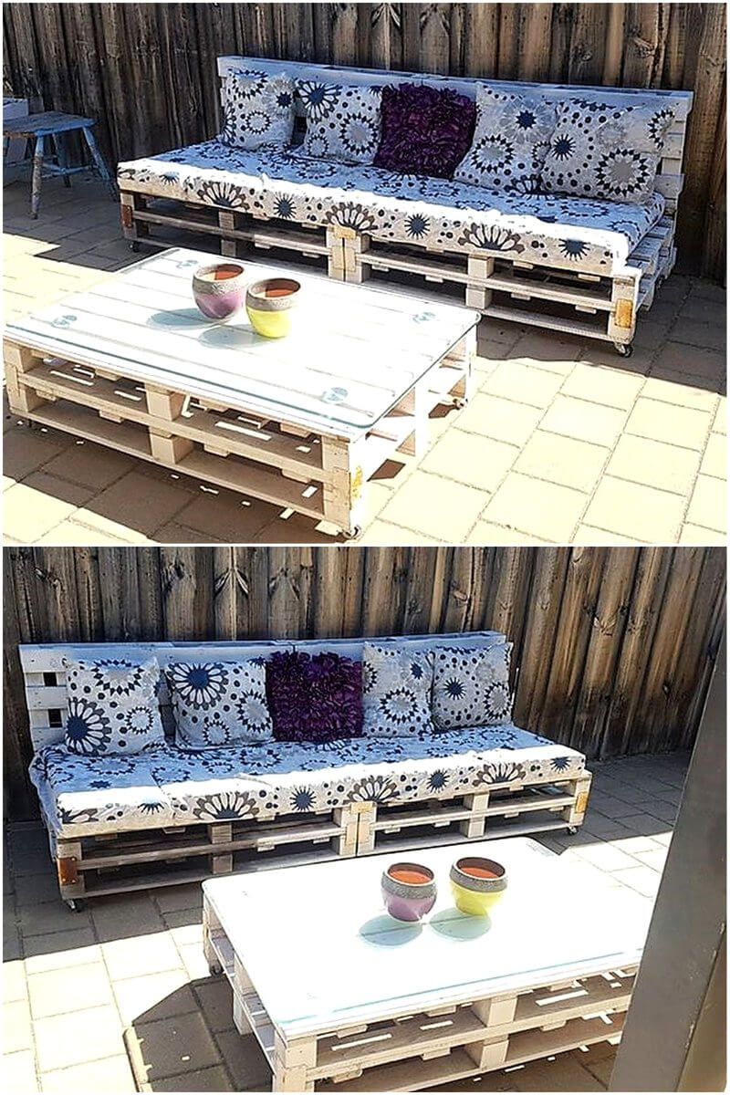 Pallet lounge and table