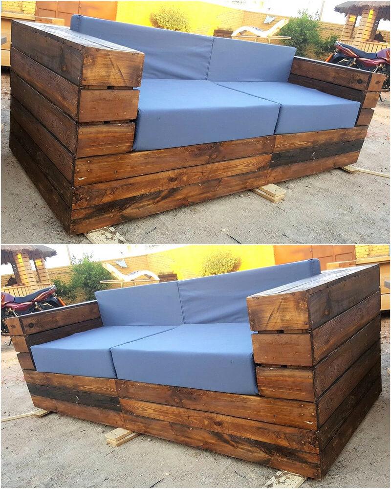 Pallet rustic design sofa