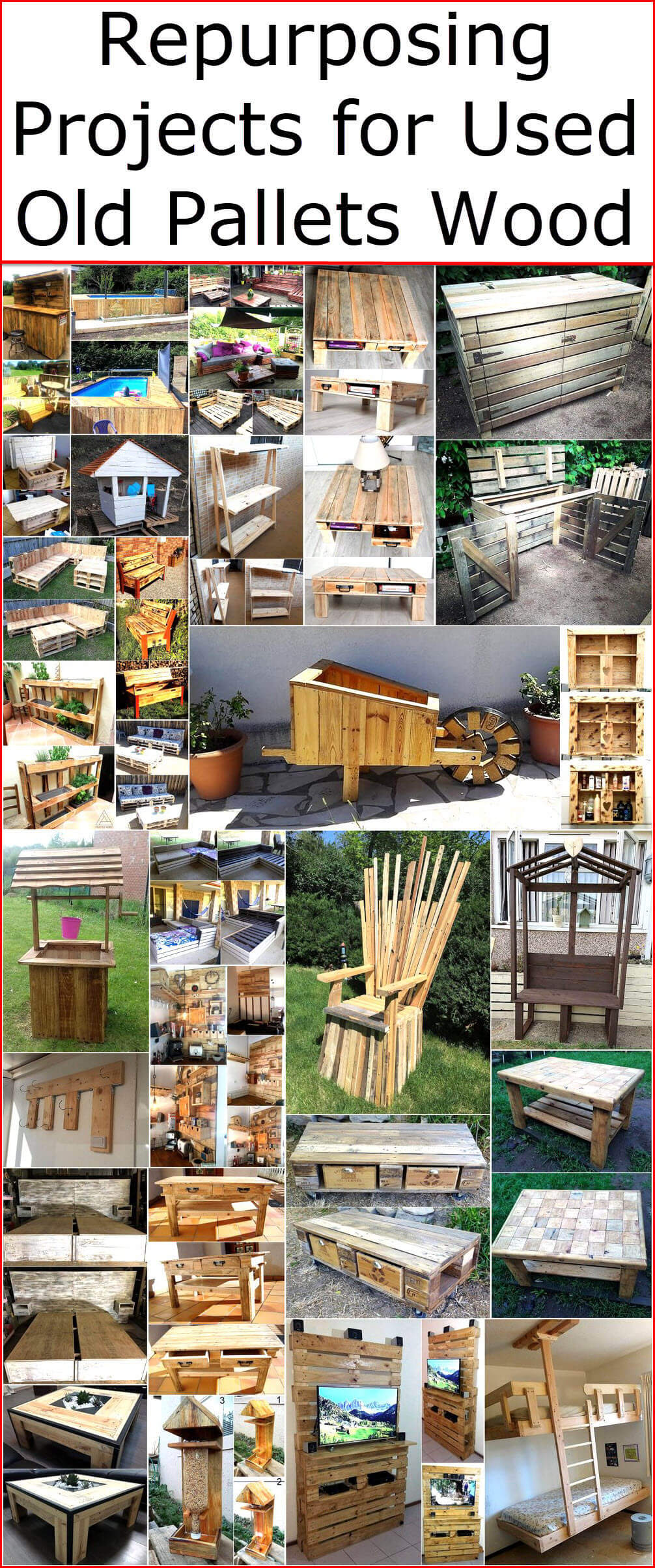 Repurposing Projects for Used Old Pallets Wood