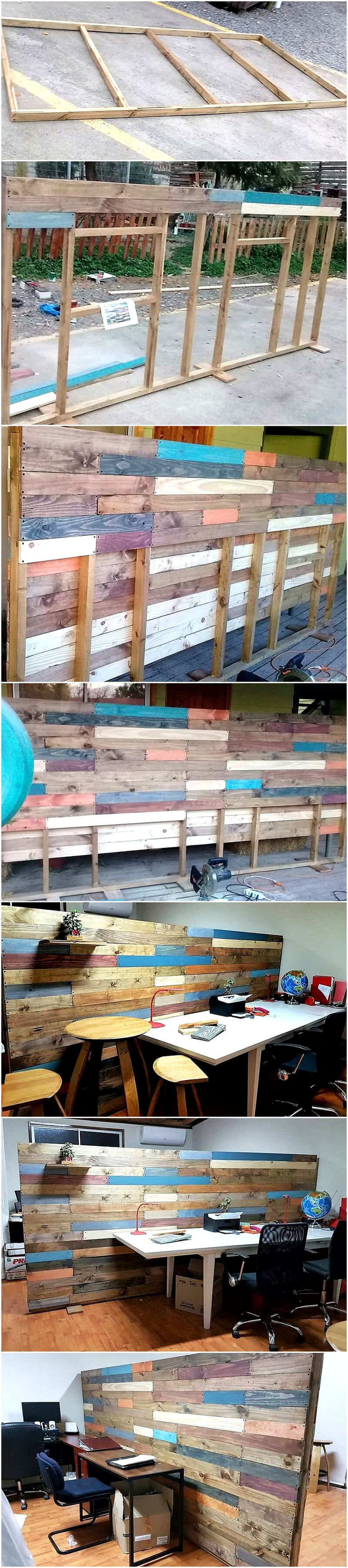 diy pallets wood room divider and decor