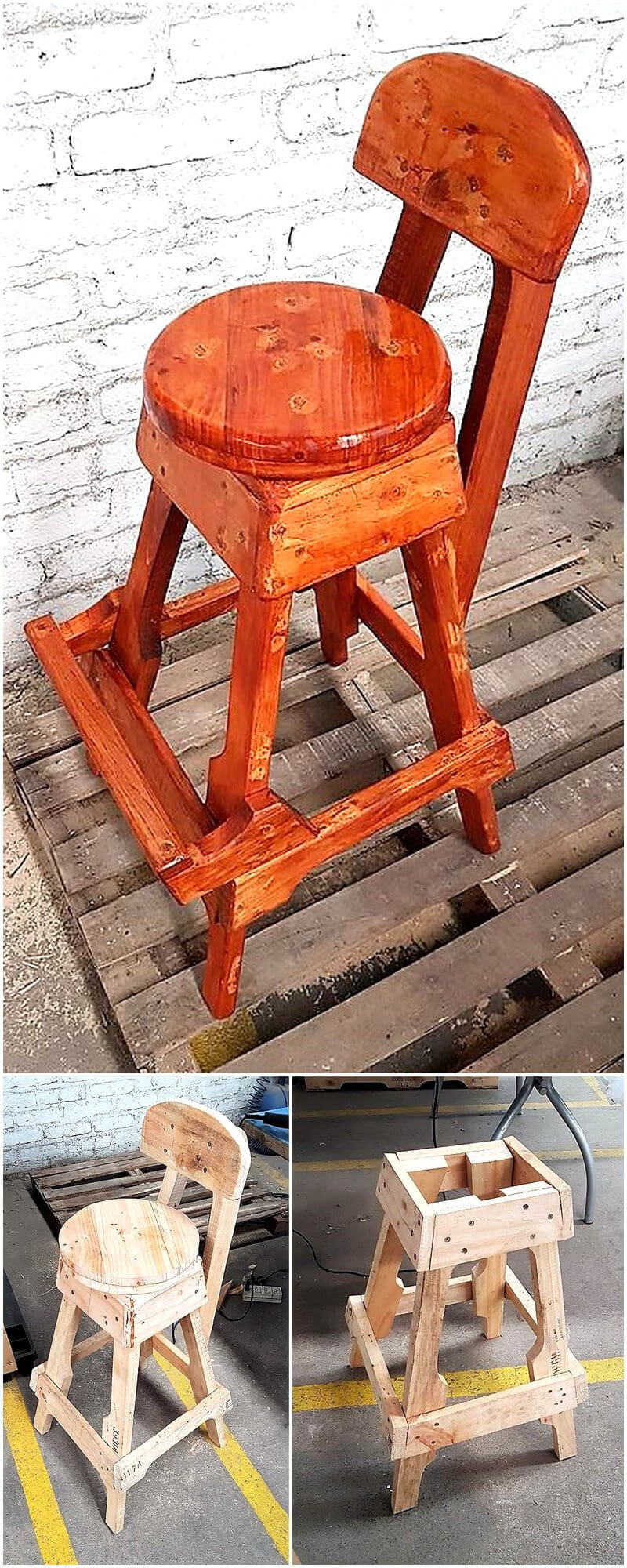 diy recycled pallets chair