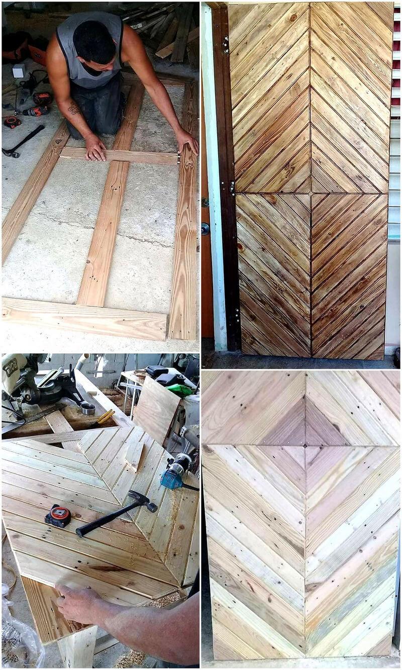 diy wood pallet door