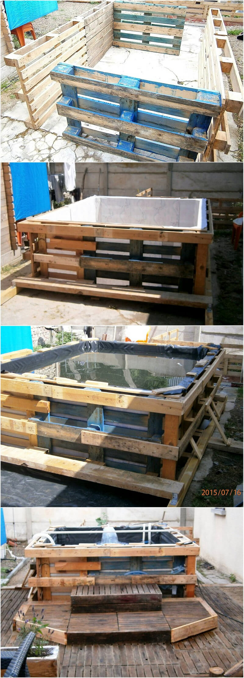 diy wooden pallet hot tub