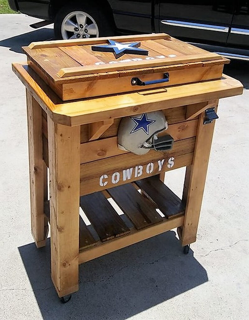 icechest made with pallets