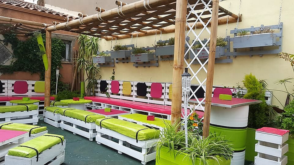 pallet patio lounge