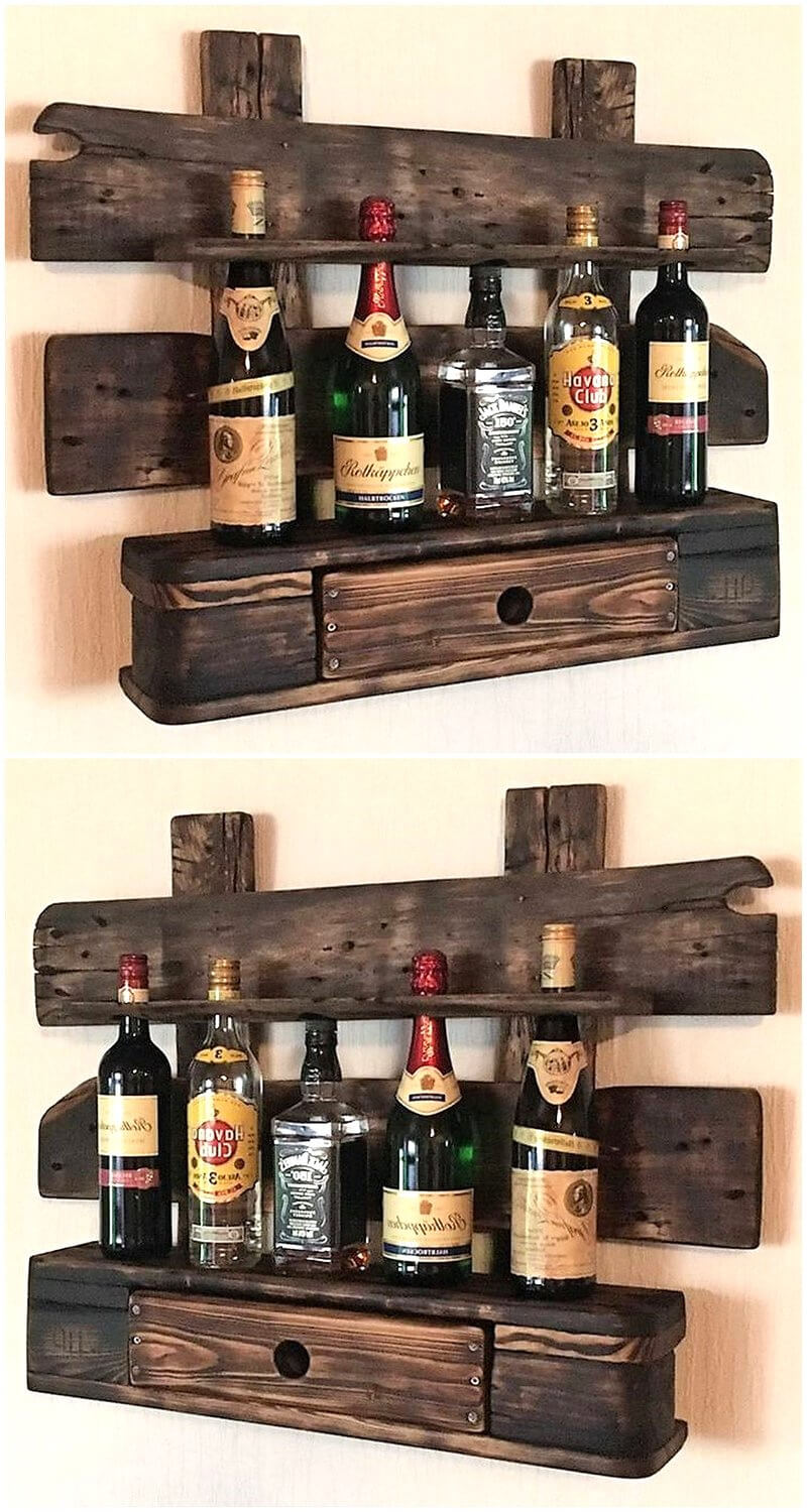 pallet vintage shelf idea