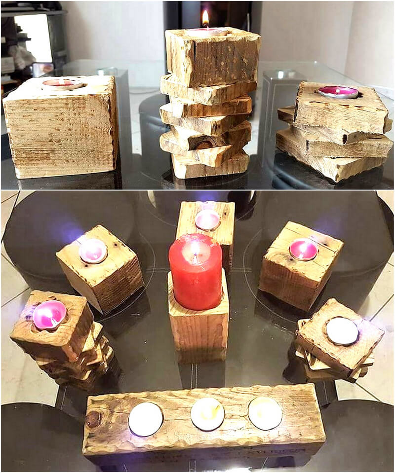 pallets candle crafts