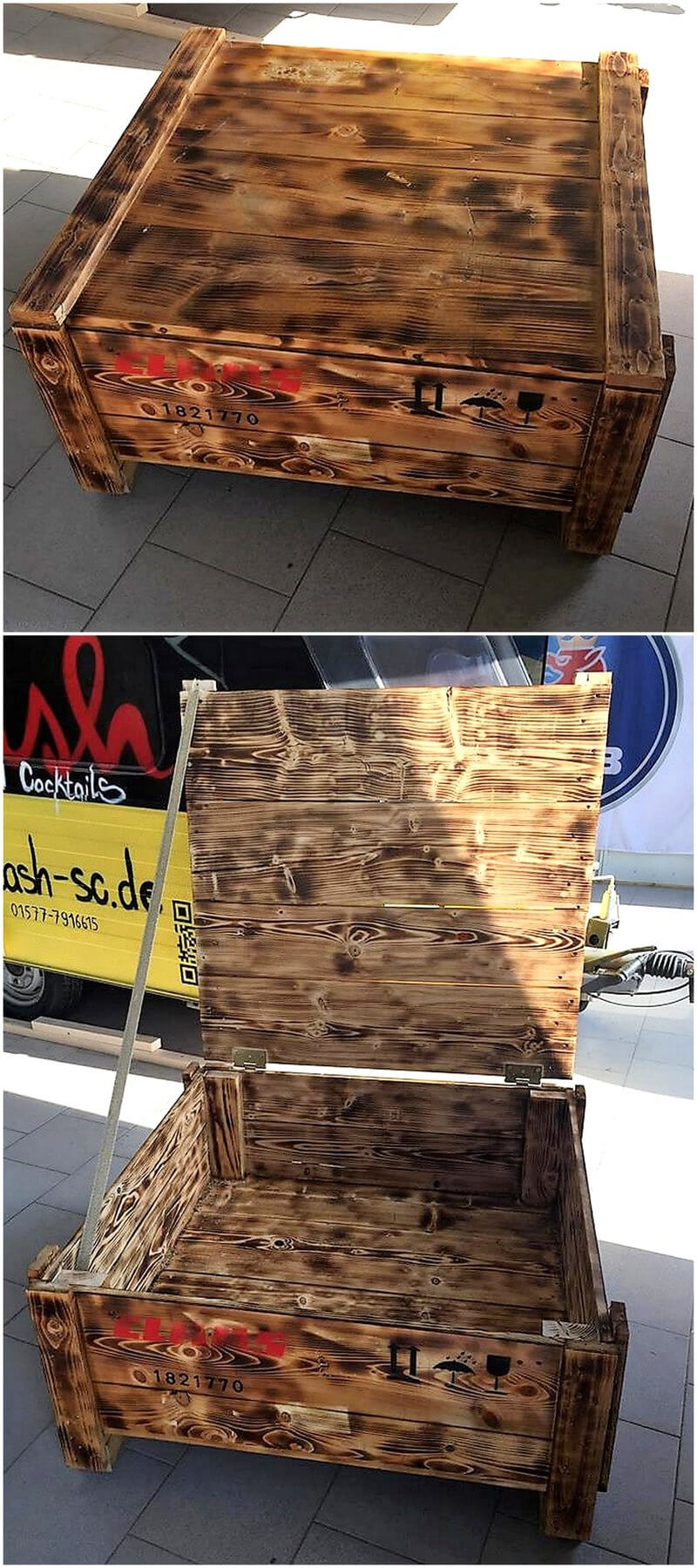 pallets chest table