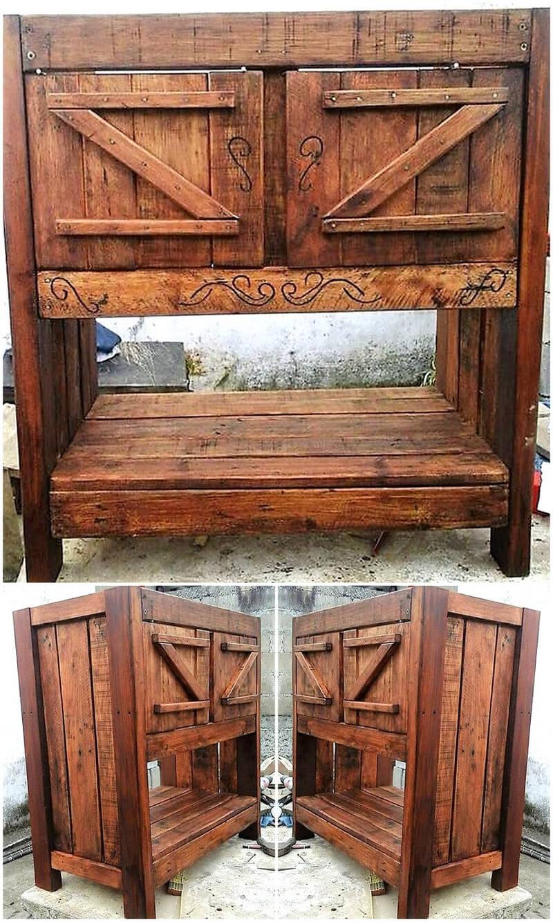 pallets kitchen cabinet