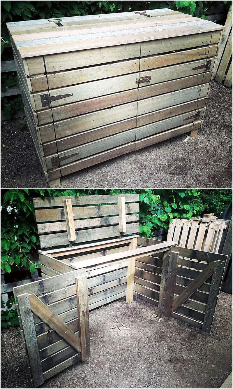 pallets made Garbage Storage Project