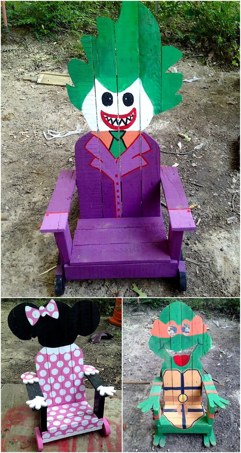 pallets made chairs for kids
