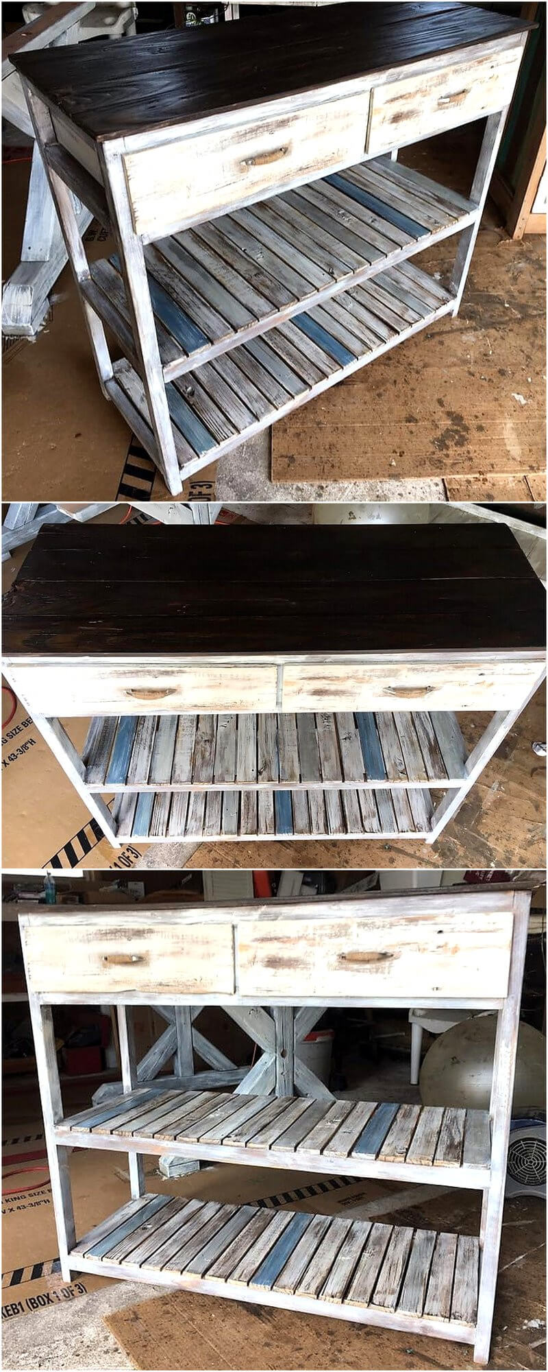 pallets made entryway table idea