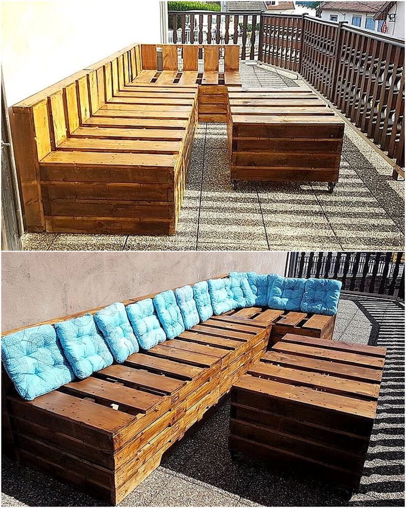pallets outdoor furniture idea