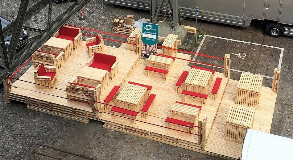 pallets patio furniture deck
