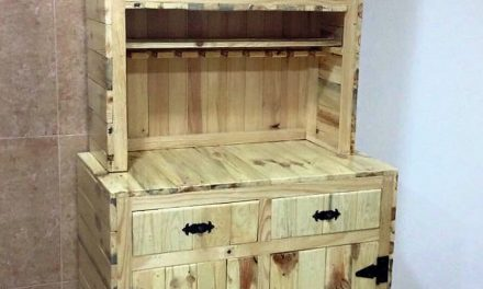 Repurposed Wood Pallet Custom Sideboard