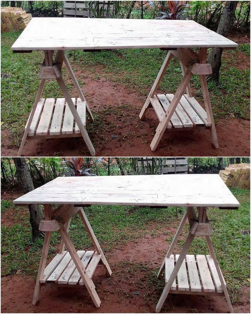 pallets wooden garden table idea