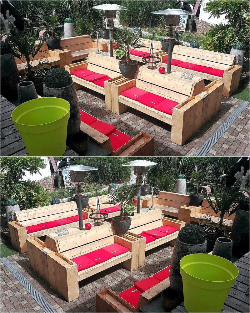 pallets wooden outdoor furniture