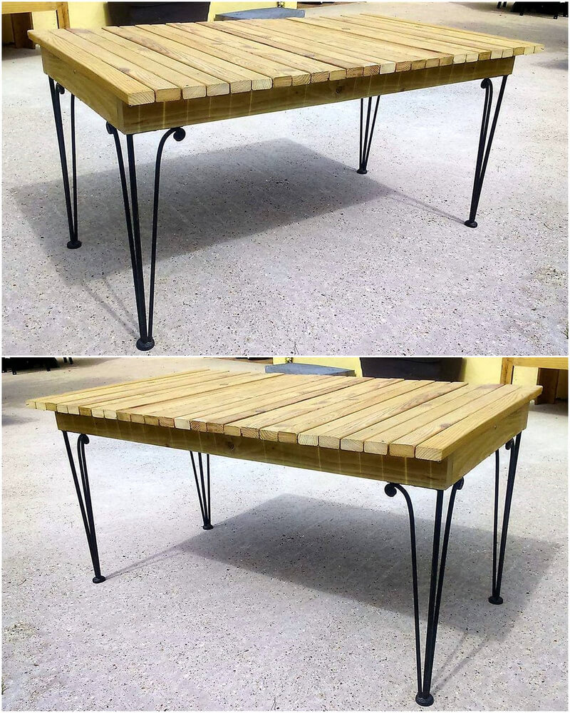 recalimed wood pallet table