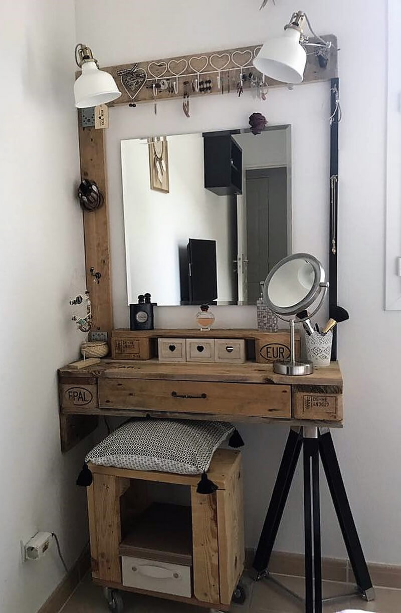 reclaimed pallets vanity project