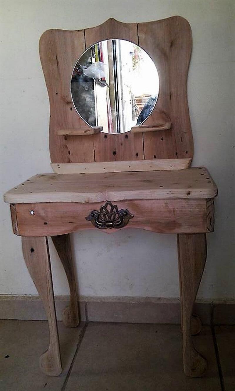 reclaimed wood pallet vanity