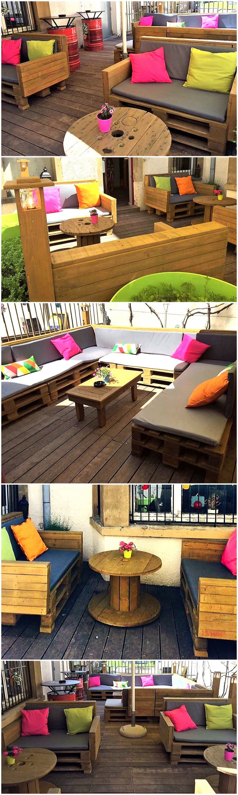 recycled pallets restaurant outdoor furniture