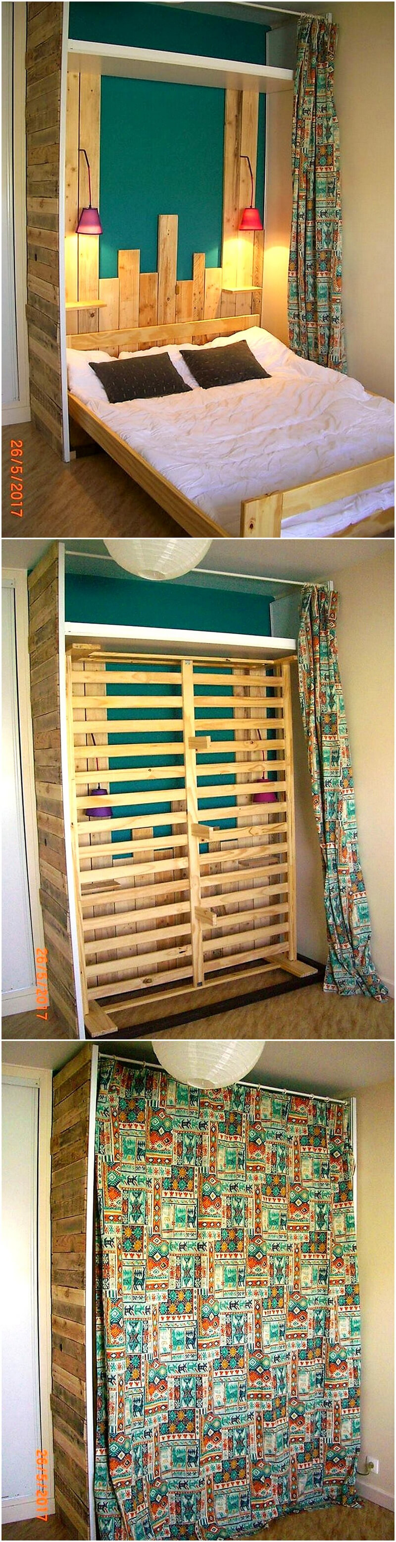 recycled wood pallet bed plan