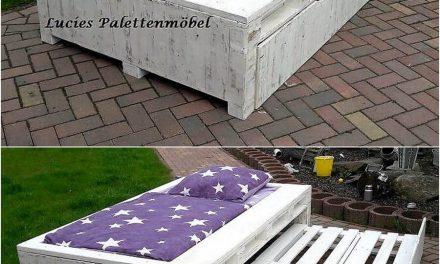 Repurposed Wooden Pallet Bed Plan