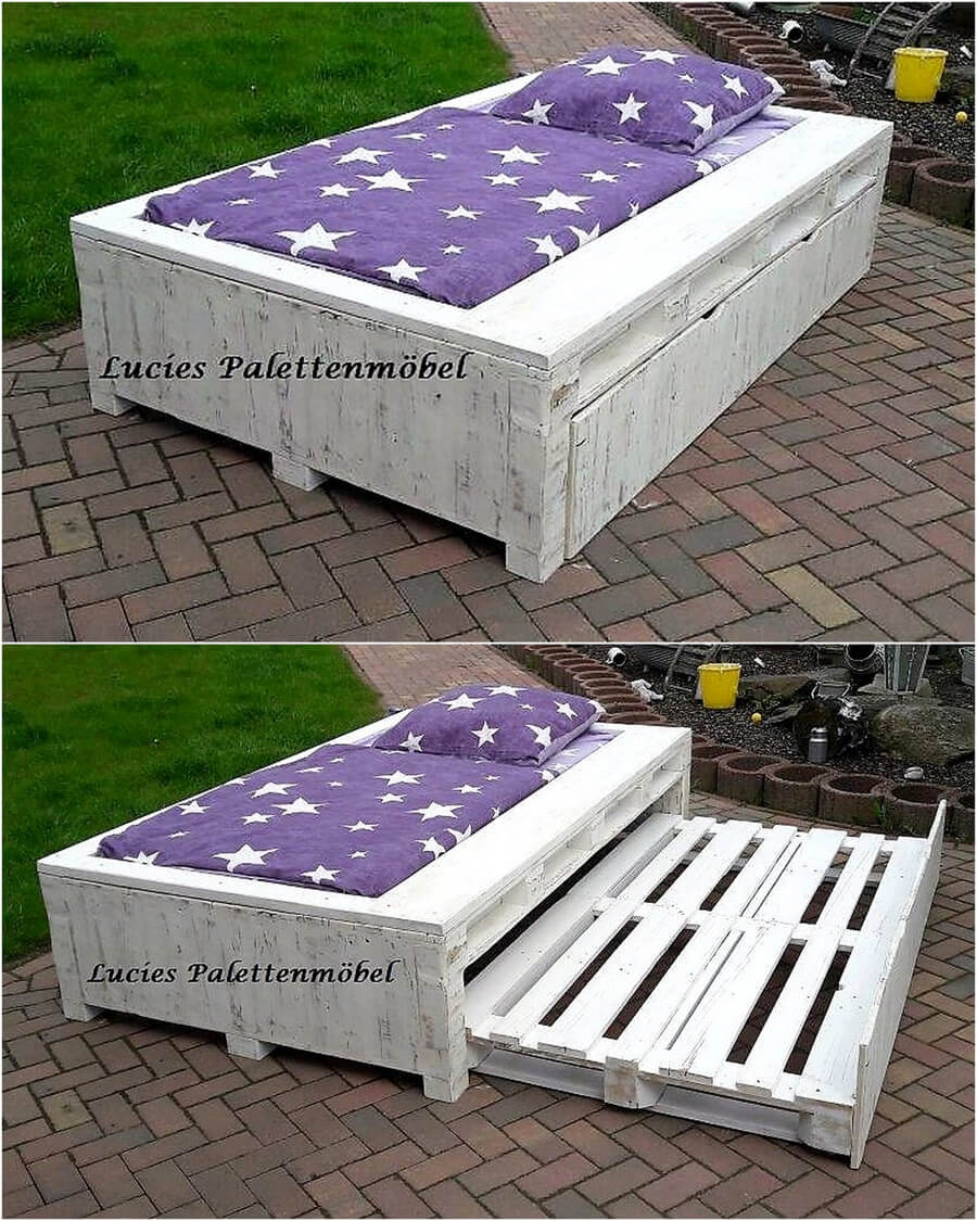 repurposed pallets bed