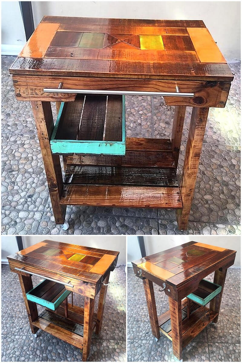 repurposed wood pallets kitchen table idea
