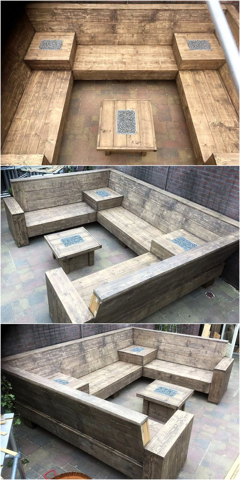 repurposed wooden pallet outdoor couch