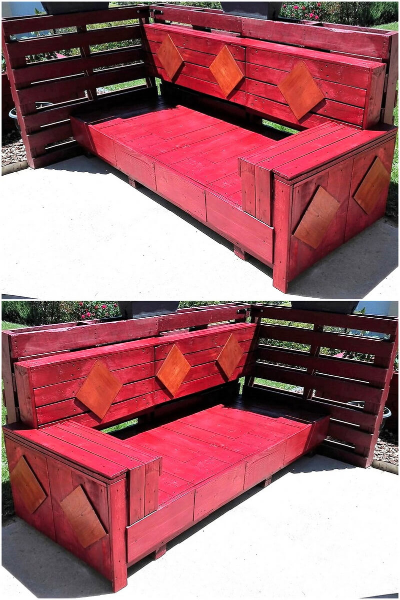 repurposed wooden pallets patio couch