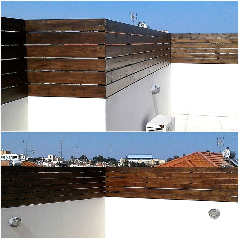 reused pallets wall fence