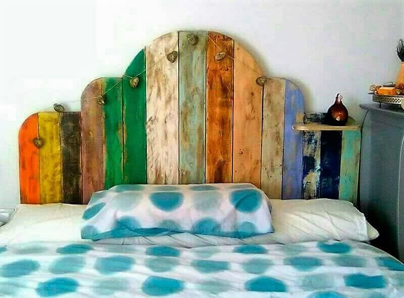 rustic pallet bed headboard