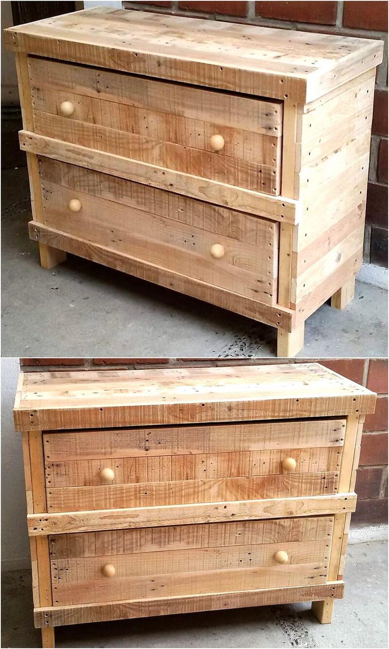 rustic wood pallet side table