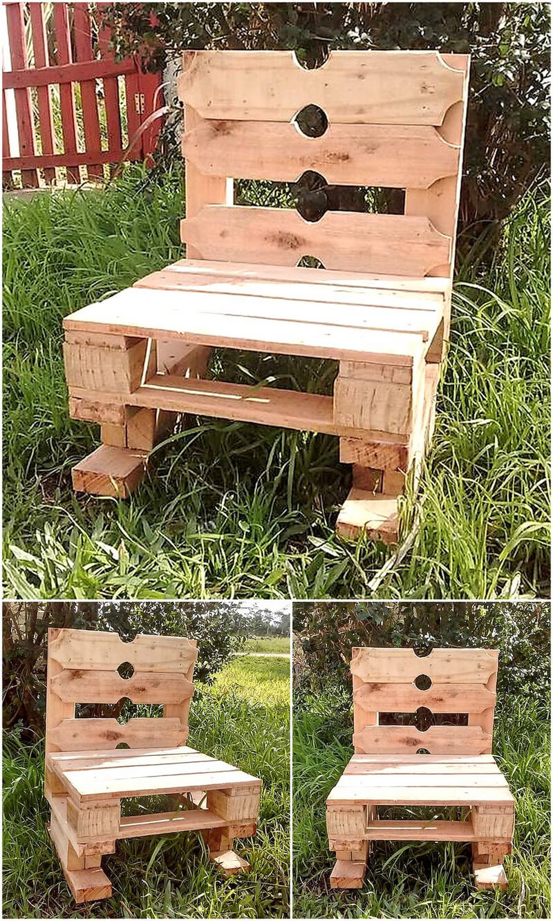 upcycled pallets wooden chair