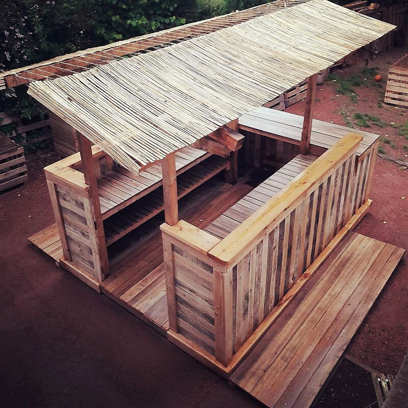 wood pallet bar plan