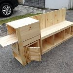 Pallets Made Entertainment Console Plan