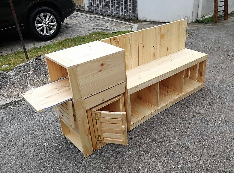 wood pallet entertainment console