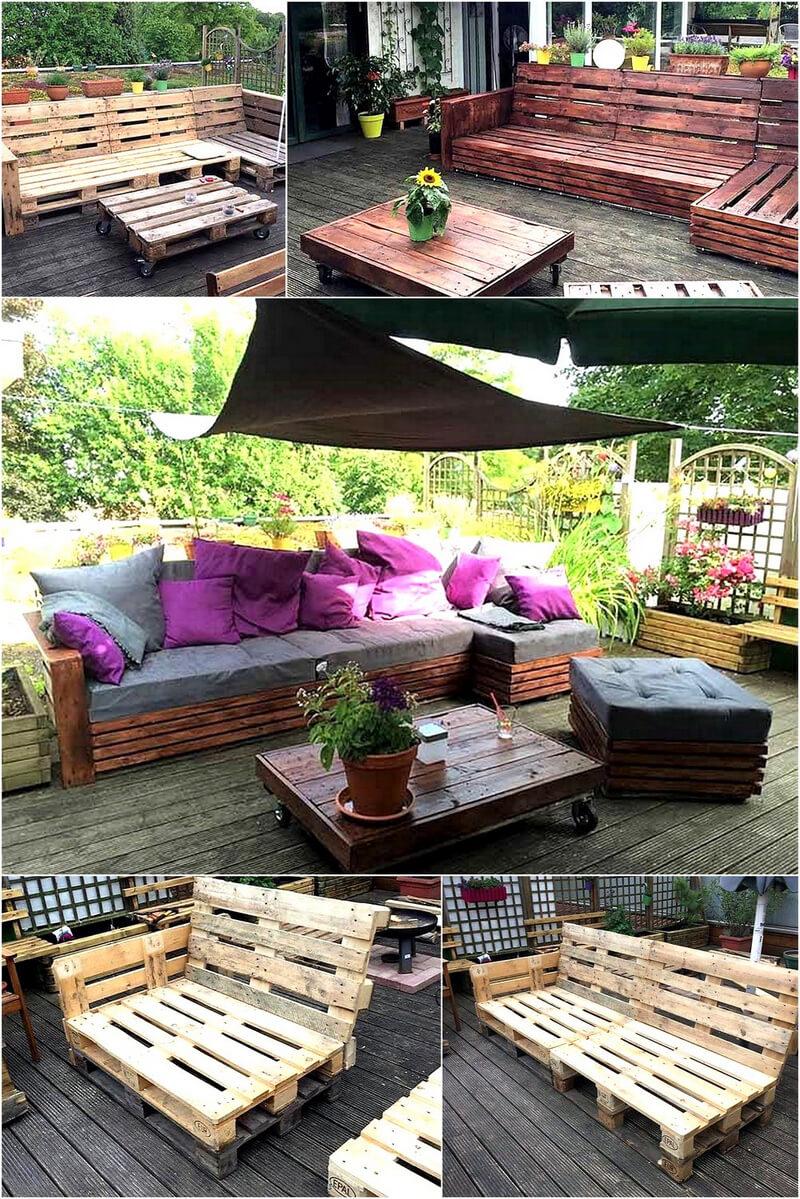 wood pallet lounge diy