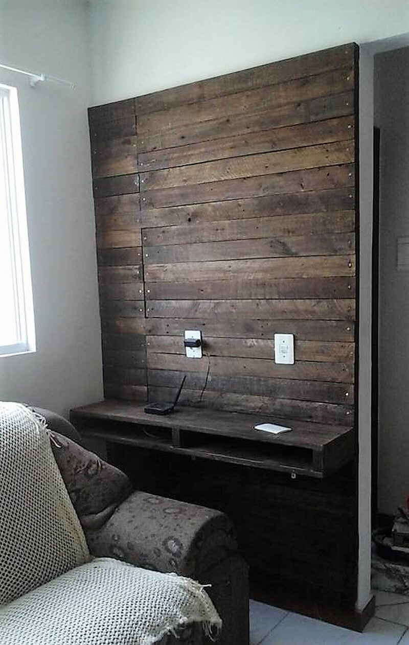 wood pallet wall art for tv