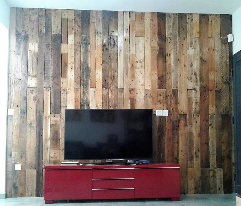 wood pallet wall cladding