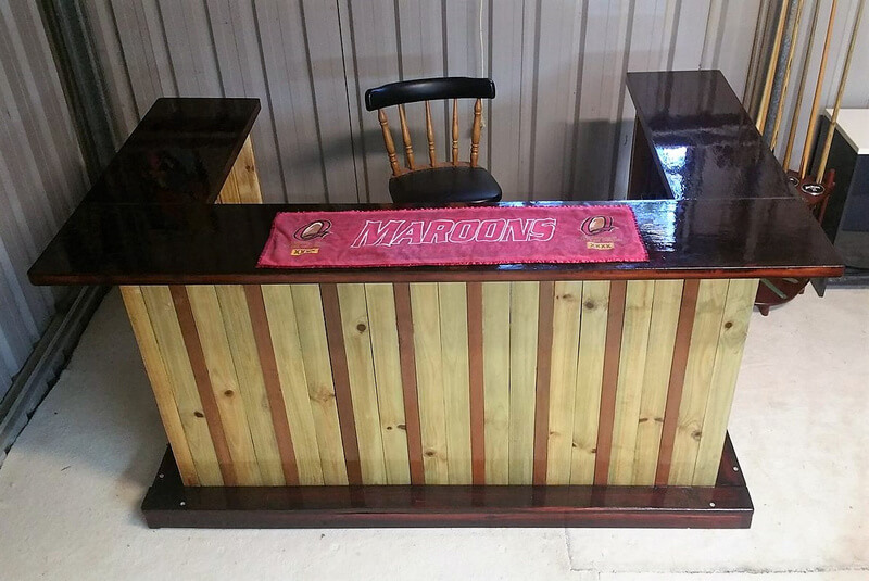 wooden pallet made bar