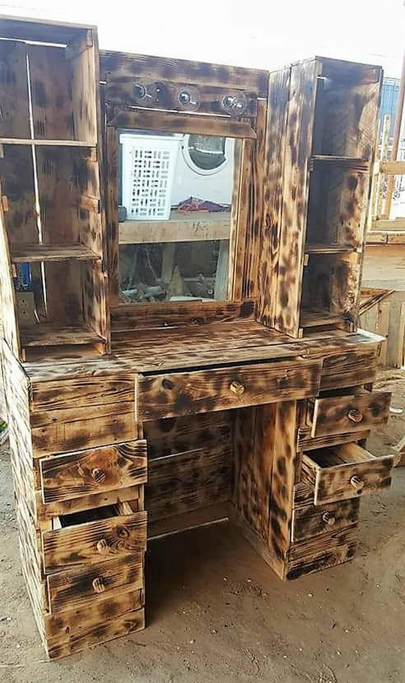 wooden pallet rustic vanity project
